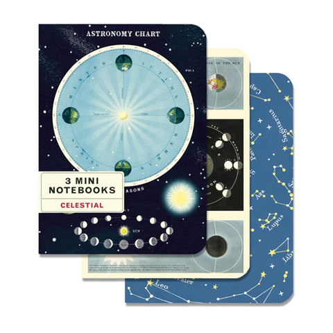 Set of 3 Mini A6 Notebooks - Celestial - Cavallini & Co