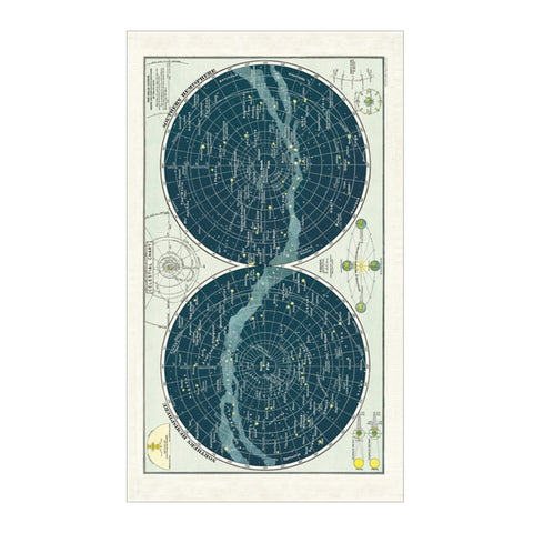 Cavallini & Co Vintage Celestial Cotton Tea Towel - SweetpeaStore