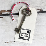 Large Vintage Style Ornate Steampunk Antique Gold Key Charm - SweetpeaStore