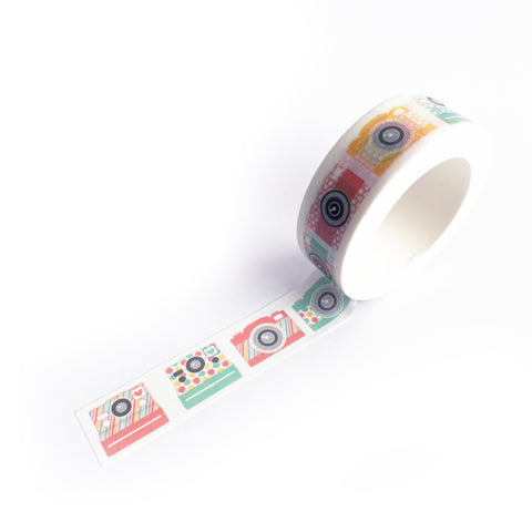 Colourful Camera Paper Washi Tape - 15mm x 10m