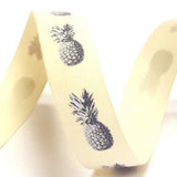 16mm Pineapple Print Cotton Ribbon - SweetpeaStore