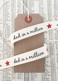 Dad in a Million 15mm Cream Ribbon - SweetpeaStore