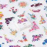 Set of 45 Pretty Floral Vintage Flower Peel Off Mini Box Stickers - SweetpeaStore