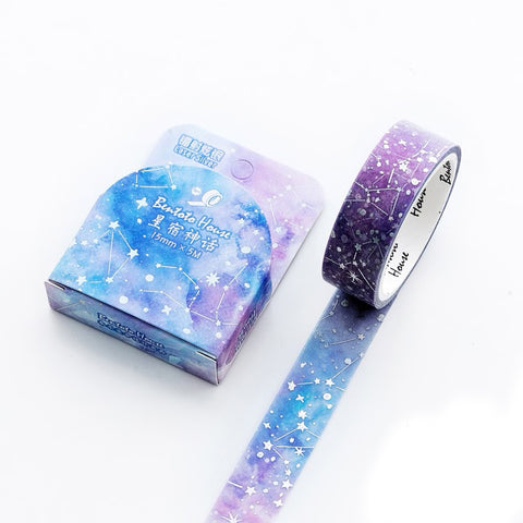 Foiled Metallic Constellations Stargazer Washi Tape - 15mm x 5m - SweetpeaStore