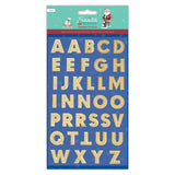 Large Gold Metallic Alphabet Stickers - 25mm - SweetpeaStore