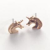 Fabulous Gold Unicorn Stud Earrings - SweetpeaStore