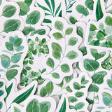 Set of 45 Green Leaves Eucalyptus Willow Mini Box Stickers - SweetpeaStore