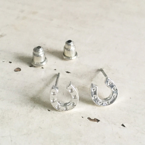 Lucky Horseshoe Silver Earrings - SweetpeaStore