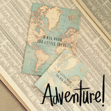 Sass & Belle 'Little Book of Big Ideas' Vintage World Map Notebook - SweetpeaStore