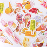 46 Ice Cream & Lolly Summer Watercolour Mini Box Stickers - SweetpeaStore