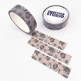 Insects and Leaves Paper Washi Tape - 15mm x 5m - SweetpeaStore