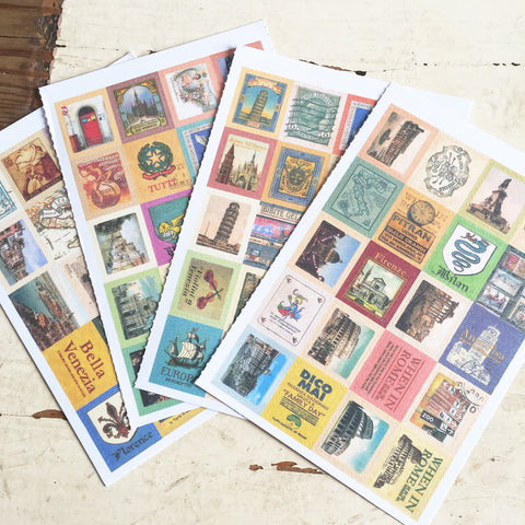 80 Vintage Italian Travel Stickers - SweetpeaStore