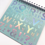 La De Dah Metallic Shimmer Iridescent Alphabet Foil Sticker Book - SweetpeaStore