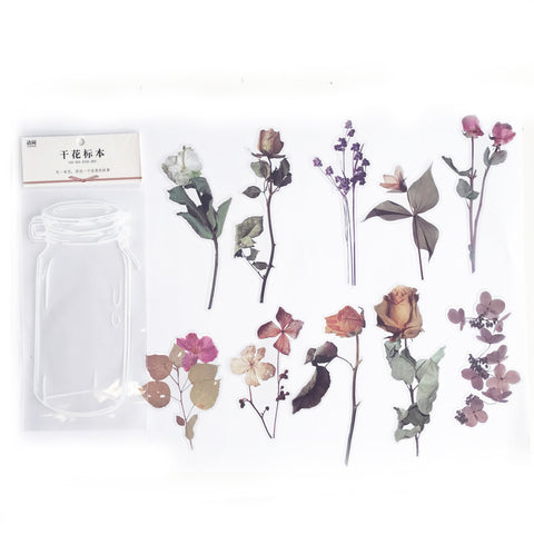 Pretty Rose Flower Clear Transparent Peel off Sticker Set - SweetpeaStore