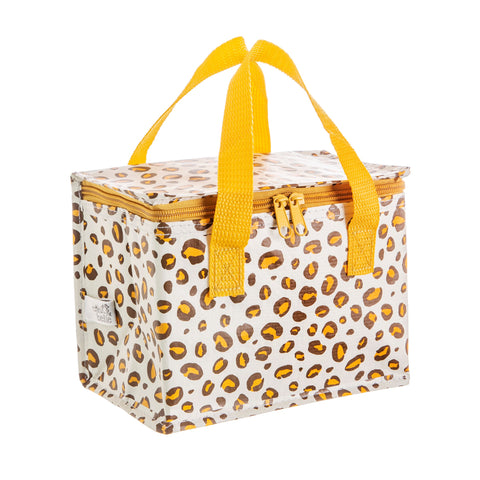 Sass & Belle Leopard Print & Mustard Insulated Zipped Lunch Bag - SweetpeaStore