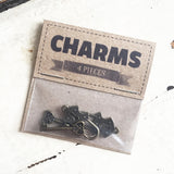 Set of 4 Antique Bronze Key & Padlock Charm - SweetpeaStore