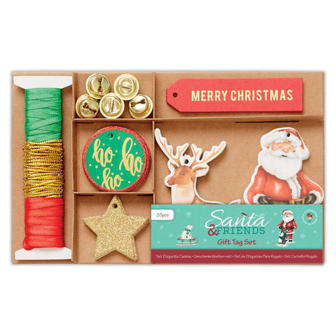 Christmas Craft DIY Gift Tag Set (33Pcs) - Santa And Friends DoCrafts - SweetpeaStore