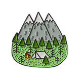 Wild Camping Enamel Pin Badge - Choose Design - SweetpeaStore