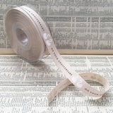 15mm On Your Anniversary Cream Ribbon - SweetpeaStore