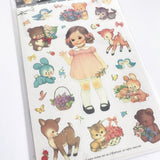 Copy of Dolly Girl PAPER DOLL MATE Dress Up Stickers Kawaii Vintage - Design 2 - Paper - SweetpeaStore