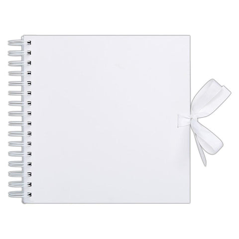 "12"" x 12"" Scrapbook Album Journal Sketchbook - White - Spiral Bound - SweetpeaStore"