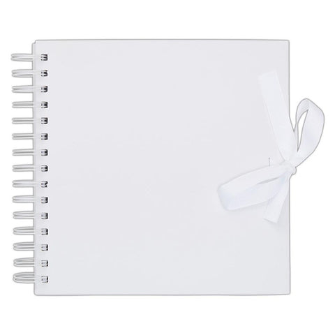 "8"" x 8"" Scrapbook Album Journal Sketchbook - White - Spiral Bound - SweetpeaStore"