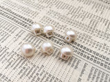6 Pretty Vintage-Style Cream Pearl Buttons 10mm - SweetpeaStore
