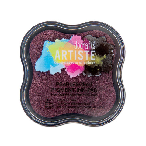 Pearlescent Dusky Rose Pigment Ink Pad - Docrafts Artiste - SweetpeaStore