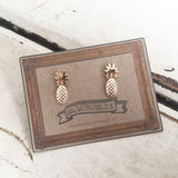 Fabulous Gold Pineapple Stud Earrings - SweetpeaStore