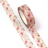 Pink Floral Pretty Paper Washi Tape - 15mm x 10m - SweetpeaStore