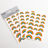 Rainbow Stickers - Alphabet Letters Numbers Hearts - Choose Design - SweetpeaStore