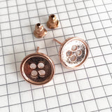 Rose Gold Button Stud Earrings - SweetpeaStore
