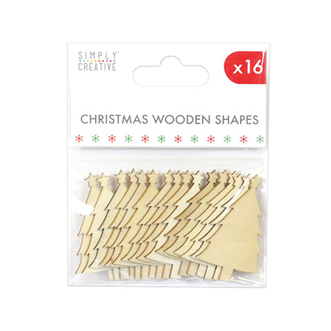 Simply Creative Christmas Wooden Shape - Trees - Festive Tree Wood Blank Craft - SweetpeaStore