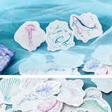 Set of 46 Sketchy Ocean Whale & Dolphin Mini Box Stickers - SweetpeaStore