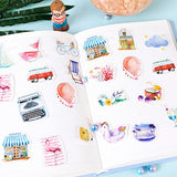 Set of 46 Watercolour Summer Holiday Mini Box Journalling Scrapbook Stickers - SweetpeaStore
