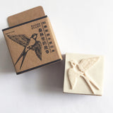 Swallow Bird Wooden Rubber Printing Stamp - SweetpeaStore