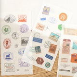 Travel Sticker Set - Plastic Peel-off Vintage Travelling Inspired - SweetpeaStore