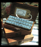 Vintage-Style Wooden UPPER CASE ALPHABET Rubber Stamp Kit - SweetpeaStore