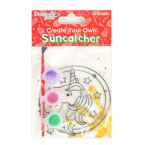 Unicorn Suncatcher Kids DIY Craft Set - Christmas Hanging Decoration Kit - SweetpeaStore