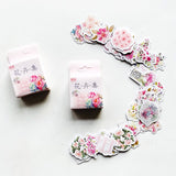 Set of 50 Pretty Floral Vintage Flower Journalling Scrapbook Peel Off Stickers - SweetpeaStore