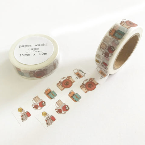 Vintage Camera Paper Washi Tape - 15mm x 10m - SweetpeaStore