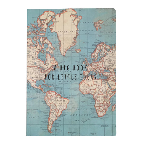 Sass & Belle A5 'Big Book of Little Ideas' Vintage World Map Notebook - SweetpeaStore