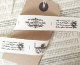 21mm Vintage Style French Label Woven Cotton Cream Ribbon - SweetpeaStore