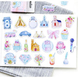 46 Wedding Inspired Sticker Mini Box Paper Stickers - SweetpeaStore