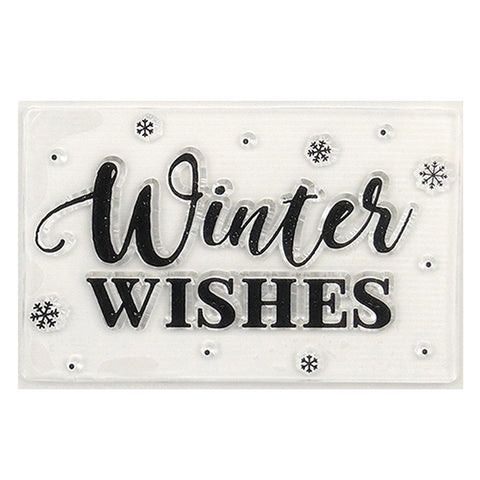 Winter Wishes & Snowflake Clear Stamp - Simply Creative - SweetpeaStore