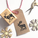Stag Reindeer Rustic Country Rubber Stamp - SweetpeaStore