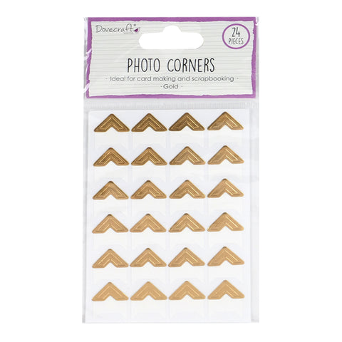 24 Photo Album Corners - Gold - SweetpeaStore