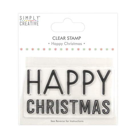 Happy Christmas Clear Stamp - Simply Creative - SweetpeaStore