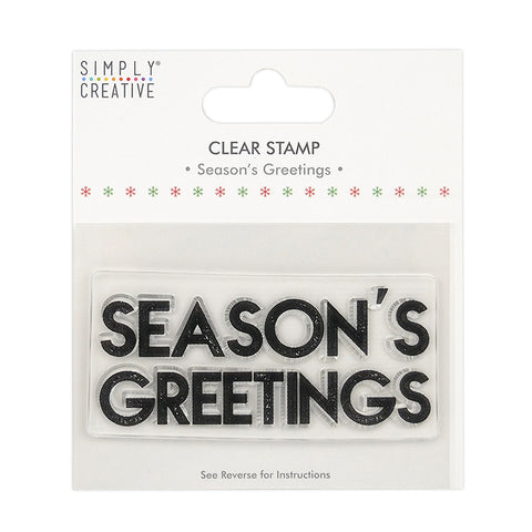 Season's Greetings Christmas Clear Stamp - Simply Creative - SweetpeaStore