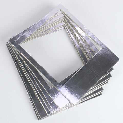 Instant Photo Frames - Silver Metallic Card - Set of 10 - SweetpeaStore